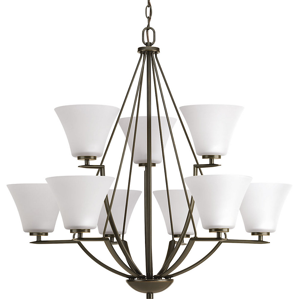 Bravo Collection 9-light Antique Bronze Chandelier