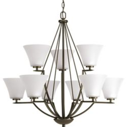 Progress Lighting Bravo Collection 9-light Antique Bronze Chandelier