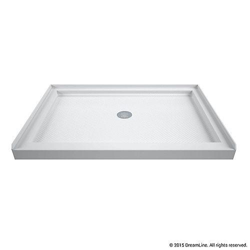 DreamLine DreamLine SlimLine Base de douche 86 cm x 122 cm, Base avec drain central, Couleur Blanc