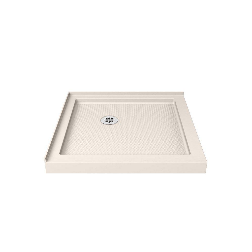 DreamLine SlimLine 36-inch x 36-inch Double Threshold Shower Base in Biscuit