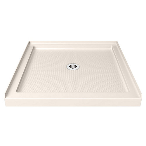 SlimLine 36-inch x 36-inch Single Threshold Shower Base in Biscuit