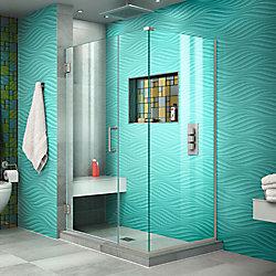 DreamLine Unidoor Plus 44 1/2 inch W x 34 3/8 inch D x 72 inch H Shower Enclosure Brushed Nickel