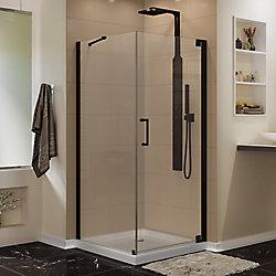 DreamLine Elegance 30-inch x 34-inch x 72-inch Semi-Frameless Pivot Shower Enclosure in Oil Rubbed Bronze
