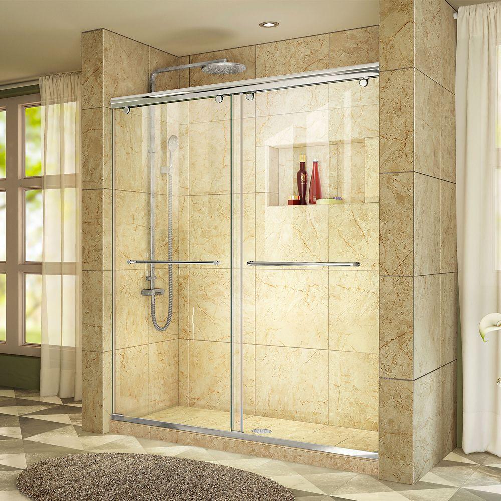 Shower Doors Glass Frameless Gliding More The Home Depot Canada
