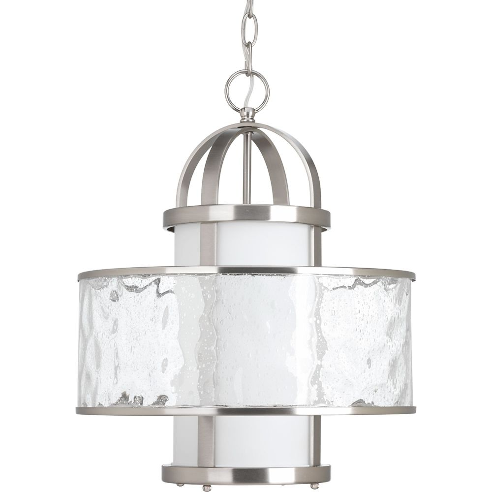 Progress Lighting Bay Court Collection 1-light Brushed Nickel Foyer Pendant