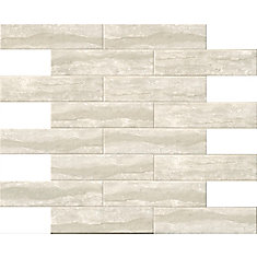 Classique Gris Travertine 4 Inchx 16 Inch Glazed Porcelain Wall Tile (11.11 Sq.Feet./Case)