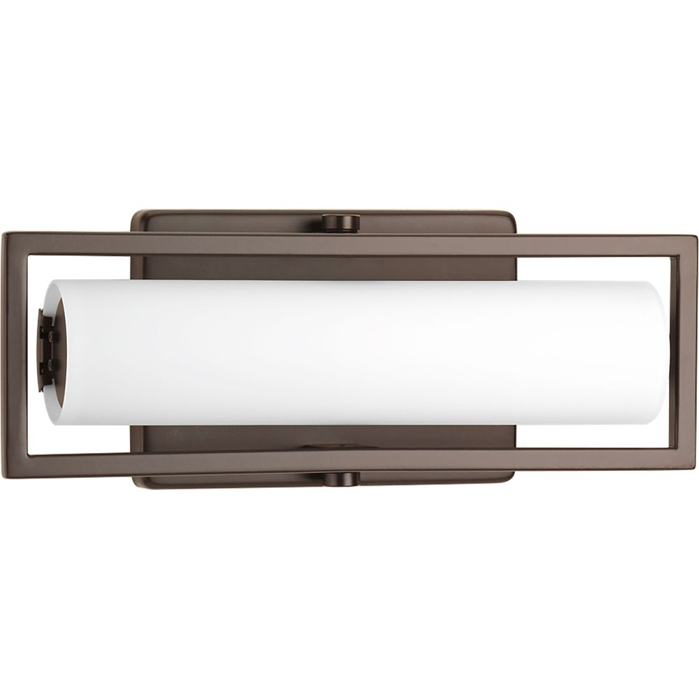 Progress Lighting Frame Collection 1-light Architectural Bronze LED Bath Light