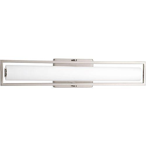 Progress Lighting Frame Collection 1-light Brushed Nickel LED Bath Light