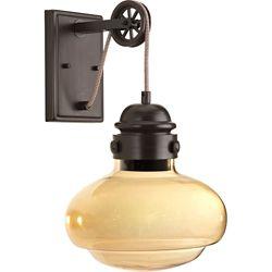 Progress Lighting Beaker Collection 1-light Antique Bronze LED Wall Sconce
