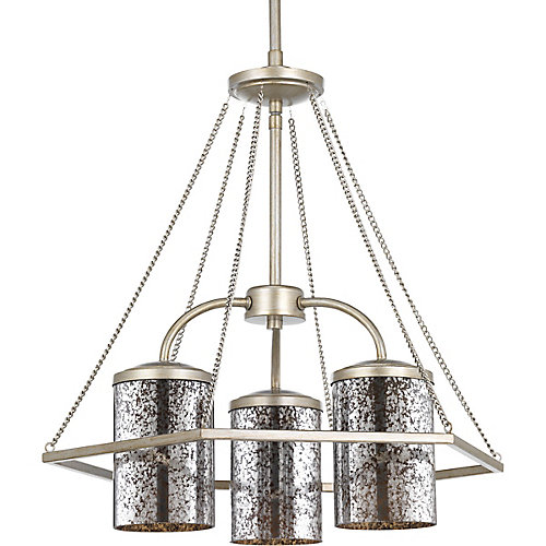 Indi Collection 3-light Silver Ridge Chandelier