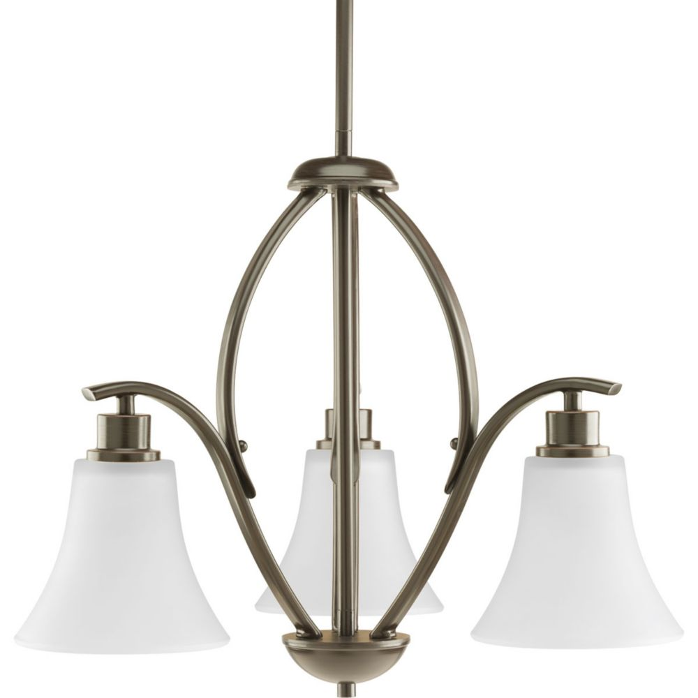 Progress Lighting Joy Collection 3-light Antique Bronze Chandelier