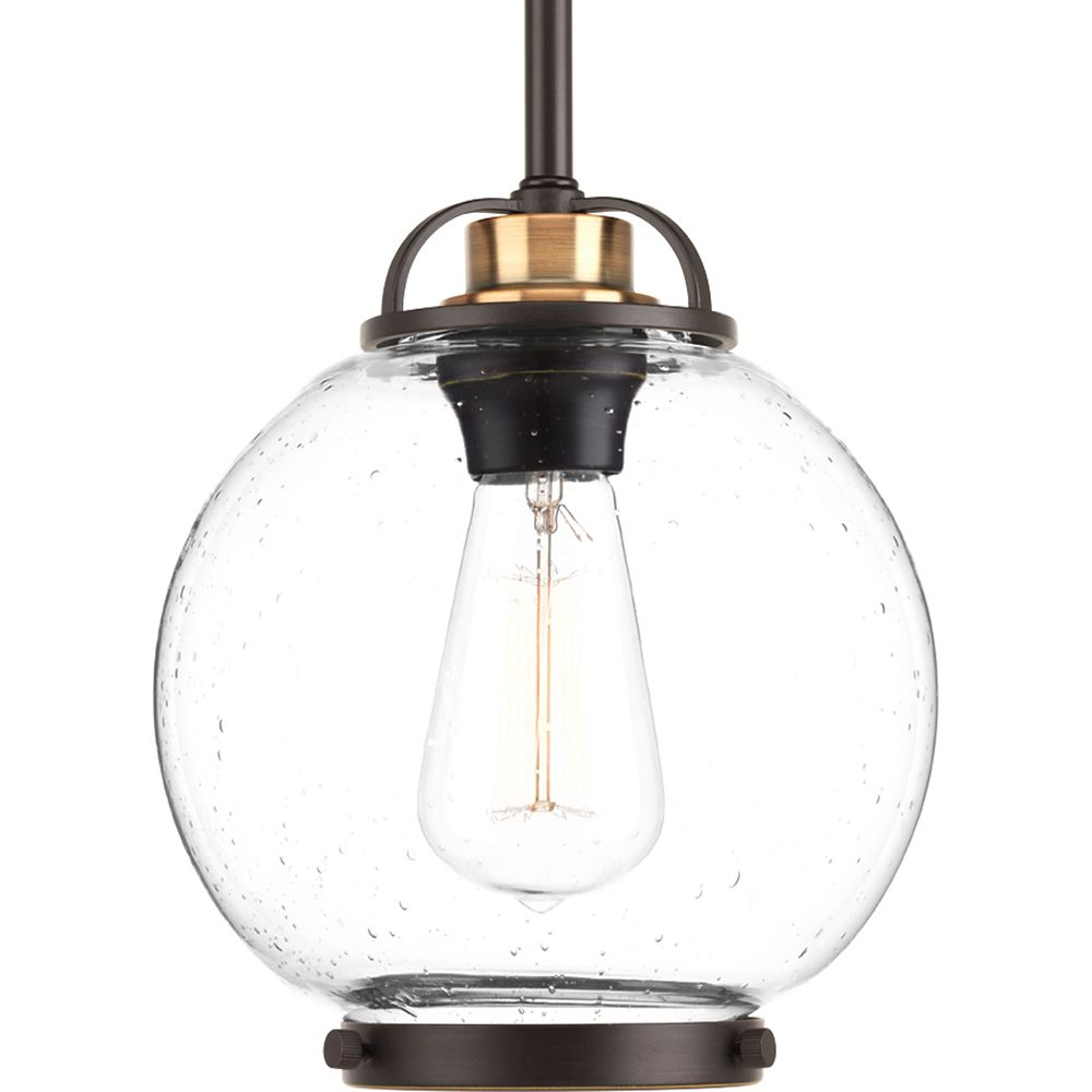Progress Lighting Chronicle Collection 1-light Antique Bronze Mini-Pendant