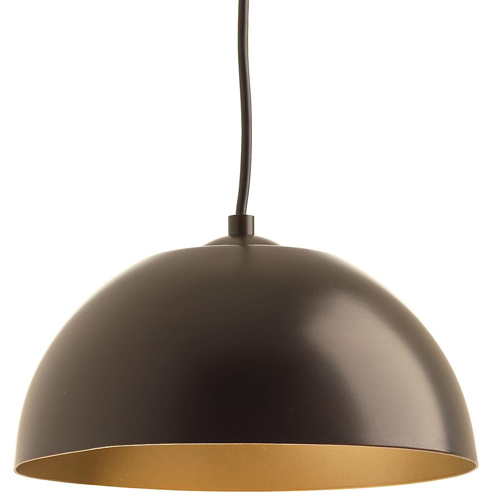 Collection Dome – Mini-luminaire suspendu à ampoule DEL unique, bronze antique