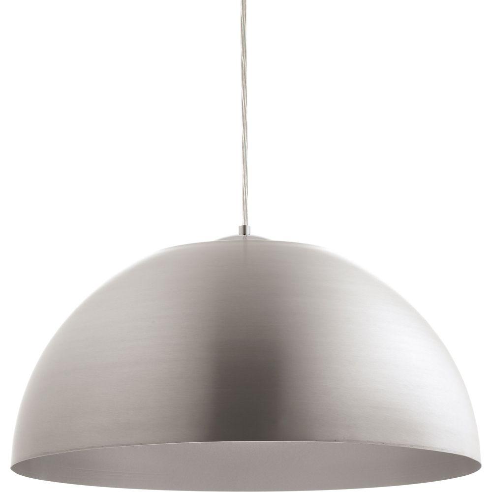 Progress Lighting Dome Collection 1-light Satin Aluminum LED Pendant