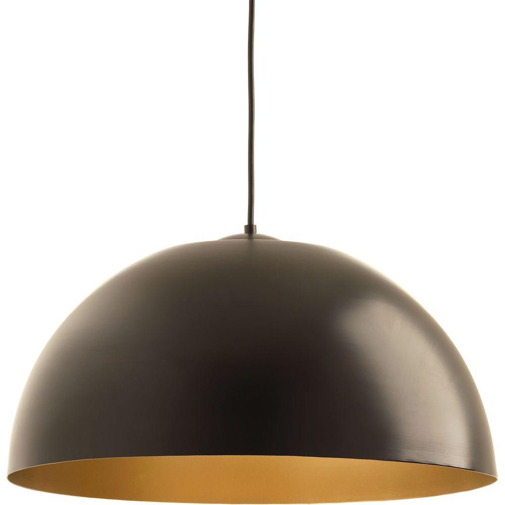 Progress Lighting Dome Collection 1-light Antique Bronze LED Pendant