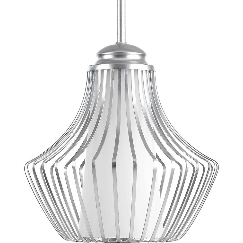 Finn Collection 1-light Metallic Silver Pendant