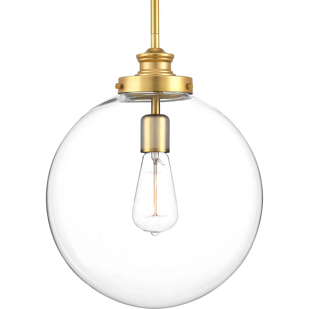 Collection Penn – Luminaire suspendu à ampoule unique, laiton naturel