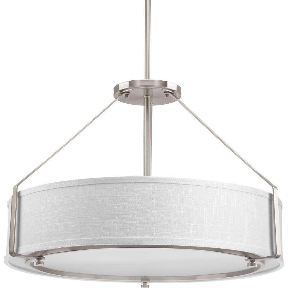 Progress Lighting Ratio Collection 4-light Brushed Nickel Pendant