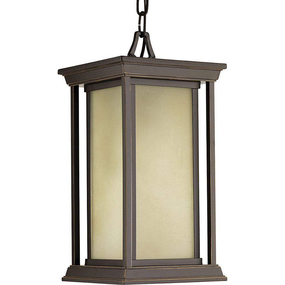 Collection Endicott – Lanterne suspendue à ampoule unique, bronze antique