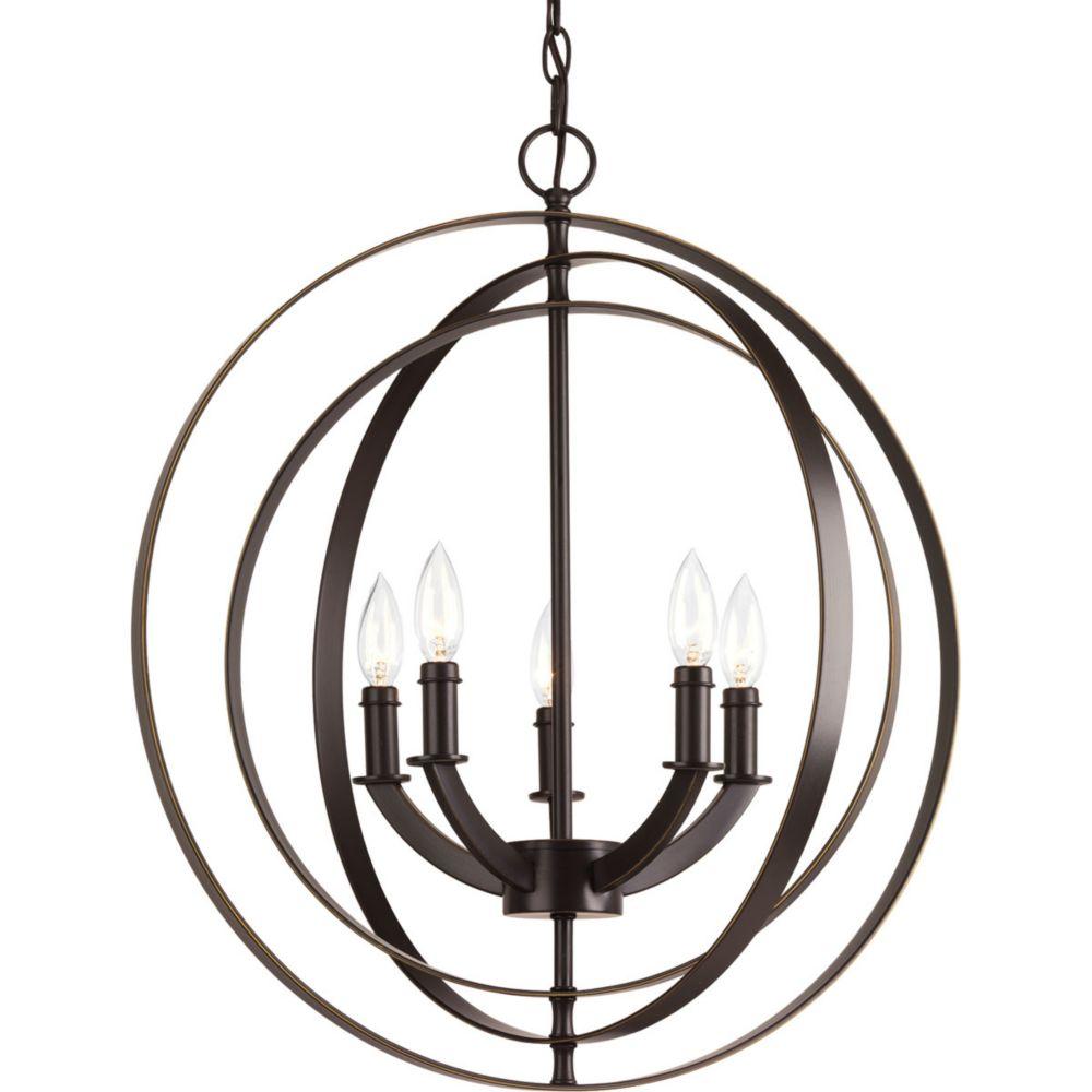 Progress Lighting Equinox Collection 5-light Antique Bronze Foyer Pendant