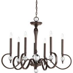Progress Lighting Esteem Collection 7-light Antique Bronze Chandelier