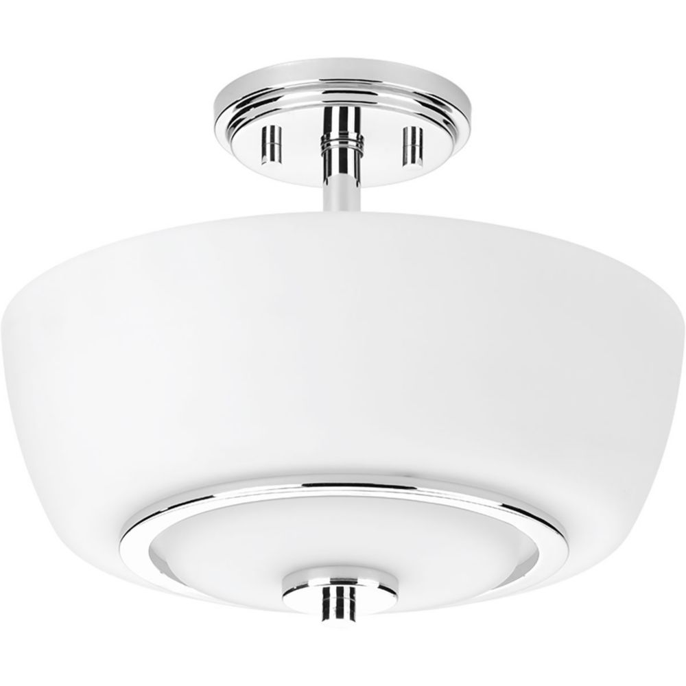 Progress Lighting Fleet Collection 2-light Polished Chrome Semi-Flushmount