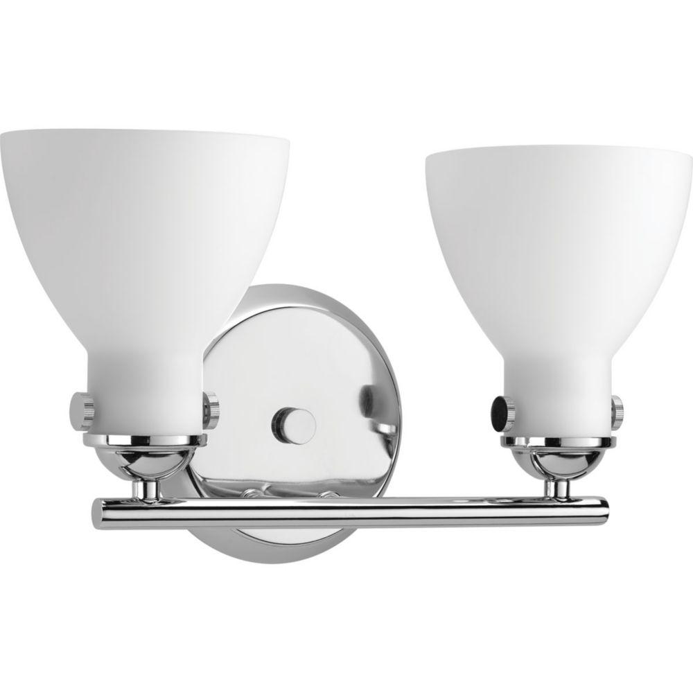 Progress Lighting Fuller Collection 2-light Polished Chrome Vanity
