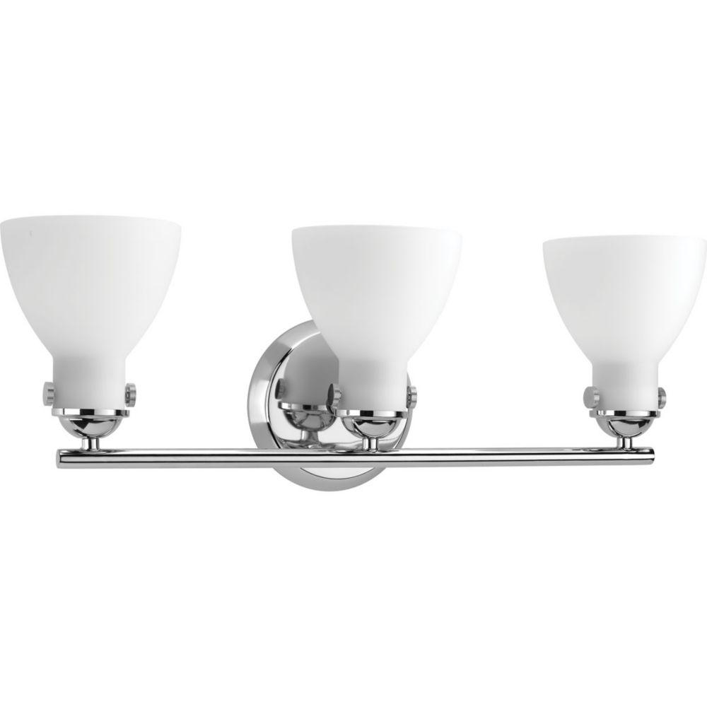 Progress Lighting Fuller Collection 3-light Polished Chrome Vanity
