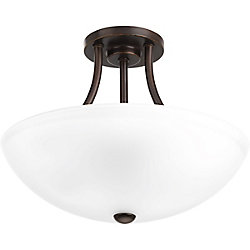Progress Lighting Gather Collection 2-light Antique Bronze Semi-Flushmount