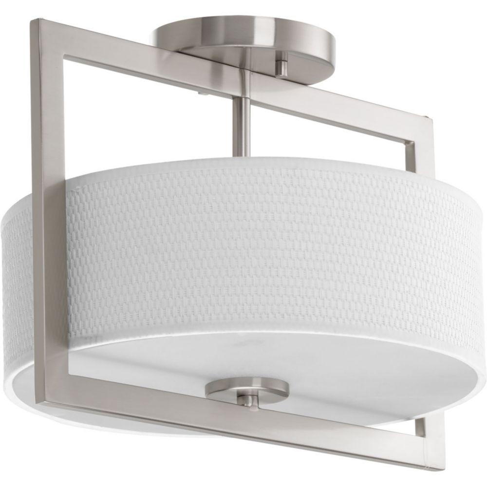 Progress Lighting Harmony Collection 3-light Brushed Nickel Semi-Flushmount