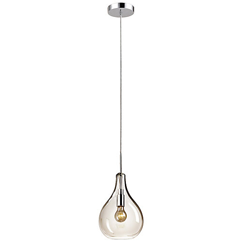 Esplanade 1-Light Clear Glass Plug-In or Hardwired Pendant Light Fixture