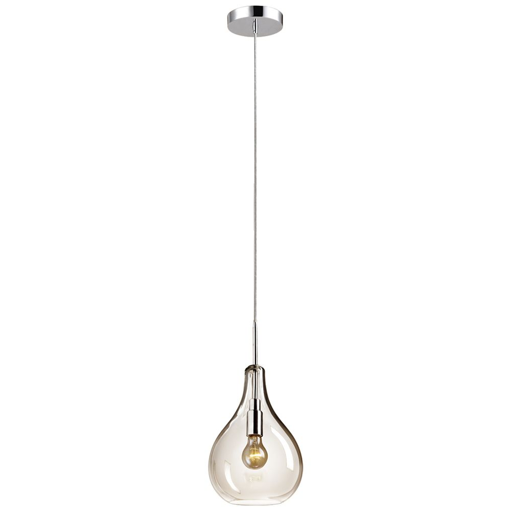 Globe Electric Esplanade 1-Light Clear Glass Plug-In or Hardwired Pendant Light Fixture