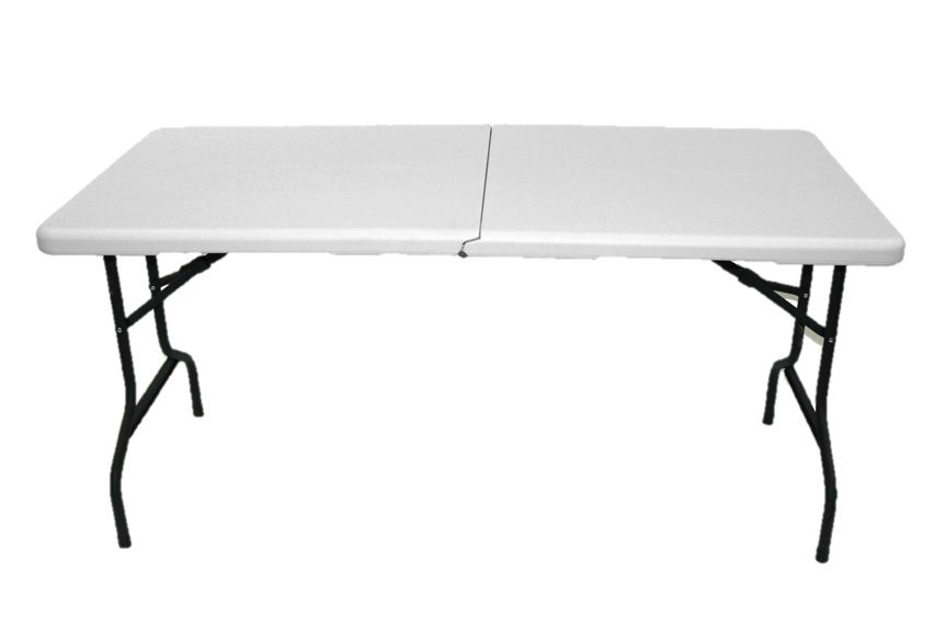 5 ft. Indoor/Outdoor Centre-Folding Table with Wheels