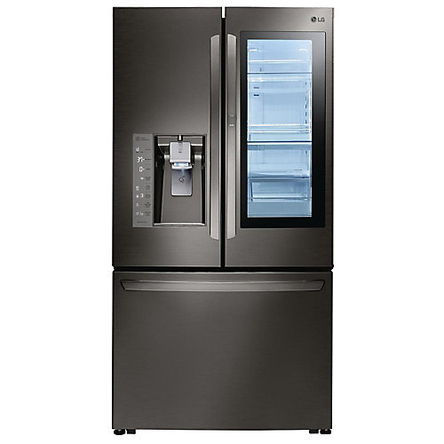 36-inch W 30 cu. ft. French Door Refrigerator with InstaView Door-in-Door in Black Stainless Steel - ENERGY STAR®