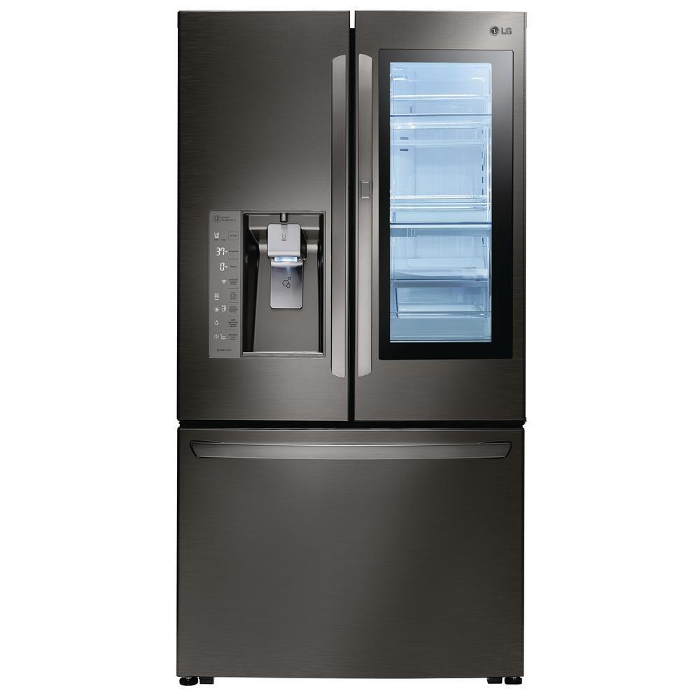 36-inch W 30 cu. ft. French Door Refrigerator with InstaView Door-in-Door in Black Stainless Steel - ENERGY STAR®