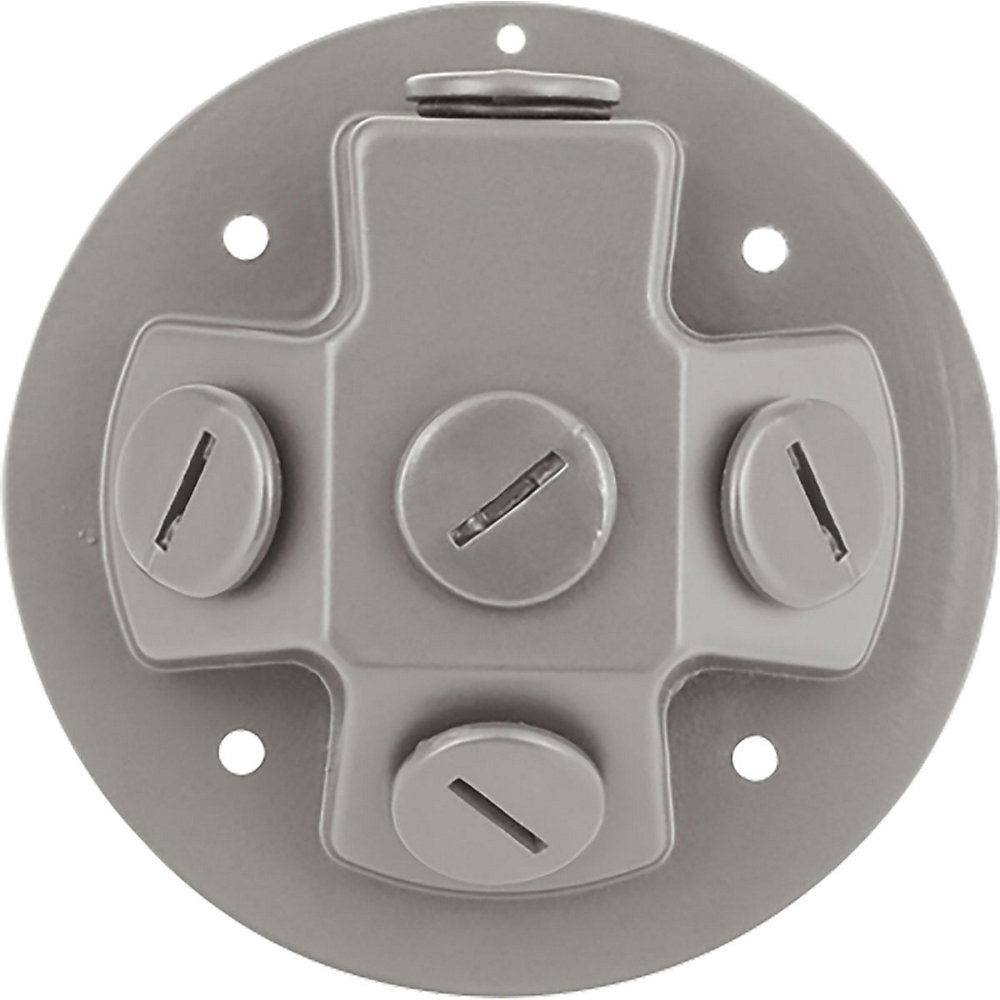 Security Light Collection -light Metallic Gray LED Floodlight Back plate