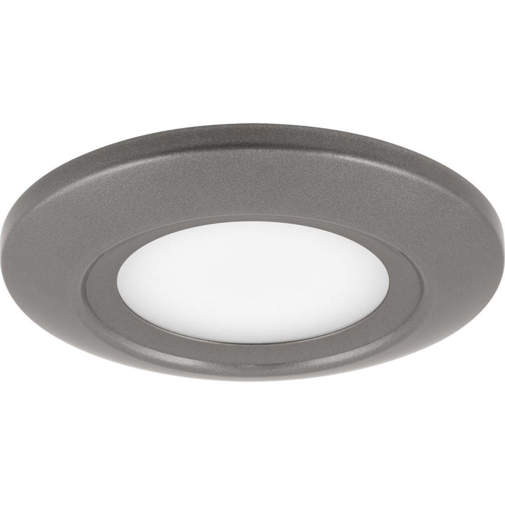 Progress Lighting LED Flush Mount Collection 1-light Metallic Gray LED Flushmount