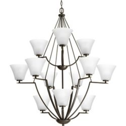 Progress Lighting Bravo Collection 12-light Antique Bronze Chandelier