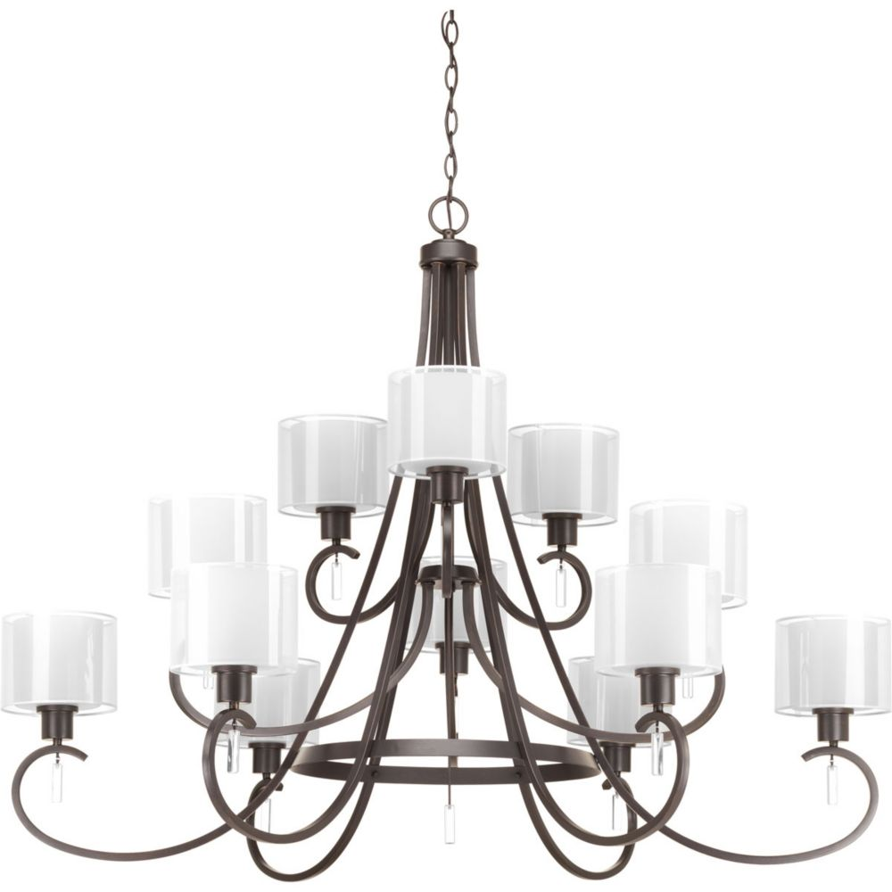 Progress Lighting Invite Collection 12-light Antique Bronze Chandelier