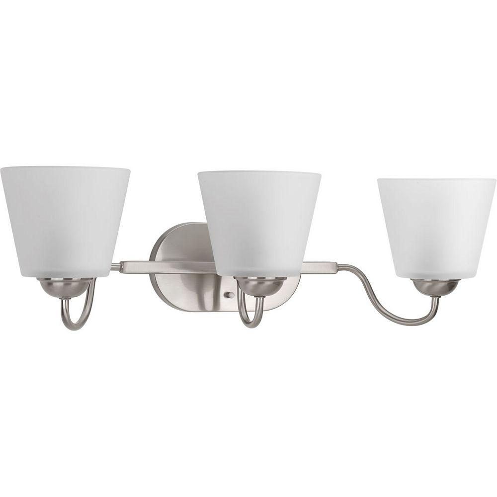 Progress Lighting Arden Collection 3-light Brushed Nickel Vanity