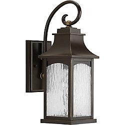 Progress Lighting Collection Maison – Lanterne murale à ampoule unique, bronze huilé