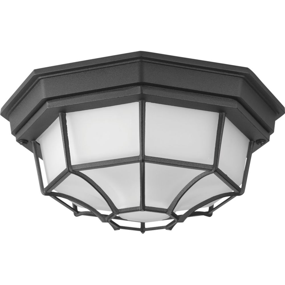 Milford LED Collection 1-light Black LED Flushmount