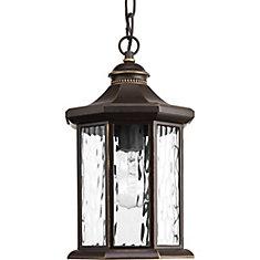 Collection Edition  Lanterne suspendue à ampoule unique, bronze antique
