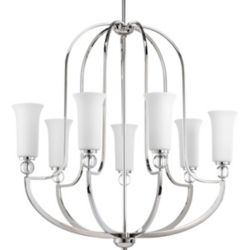 Progress Lighting Elina Collection 7-light Polished Nickel Chandelier
