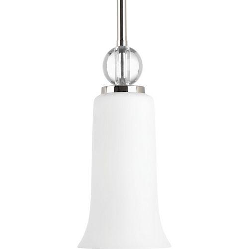 Progress Lighting Elina Collection 1-light Polished Nickel Mini-Pendant
