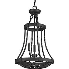 progress lighting fiorentino collection forged bronze. enclave collection 3-light gilded iron foyer pendant progress lighting fiorentino forged bronze