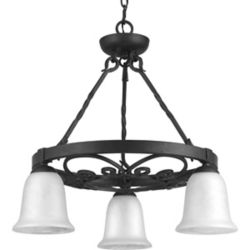 Progress Lighting Enclave Collection 3-light Gilded Iron Chandelier