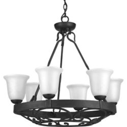 Progress Lighting Enclave Collection 6-light Gilded Iron Chandelier
