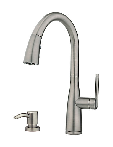 pfister tayga pull down sprayer kitchen faucet in slate the home depot canada - Pfister Kitchen Faucet