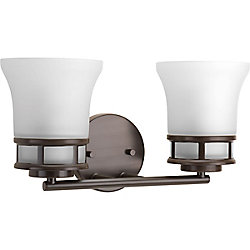 Progress Lighting Cascadia Collection 2-light Antique Bronze Vanity